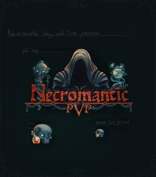 Necromanticpvp - logotype +  icon by th3cleaner