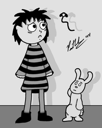 Doodle Time Sarah And Rabbit by chelano
