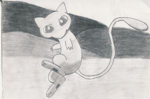 Mew sketch by 1Meh1
