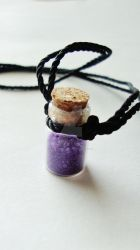 'Wolfs Bane' Glass Bottle Necklace. by HandmadEverything