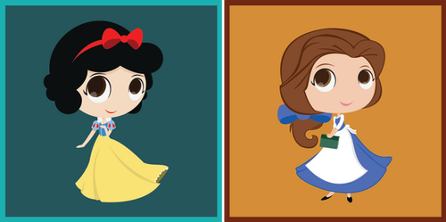 Snow White and Belle by Roscofox