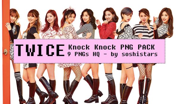 TWICE PNG PACK Knock Knock by soshistars by soshistars
