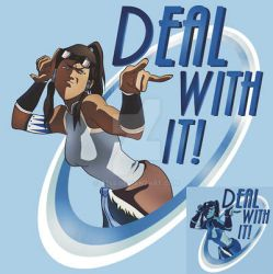 Korra - DEAL WITH IT! shirt by a745