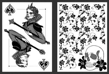 Queen Of Spades Playing Card Design By Vesperius On DeviantArt