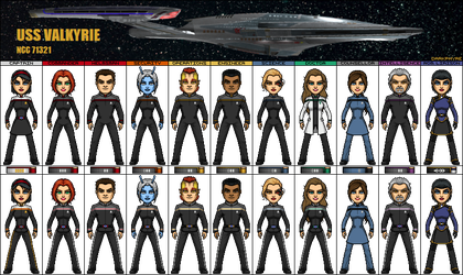 Crew of the USS Valkyrie NCC-71321 by darkphyre0