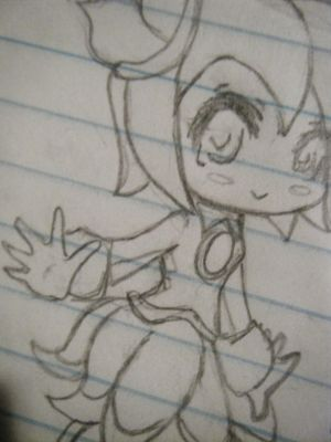Sketch of Chibi Cosmo by sonicgirl922