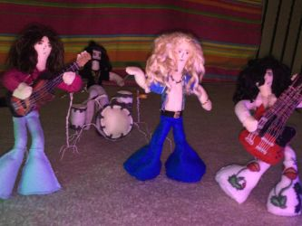 Led Zeppelin (full band + instruments) by ClassicROCKtrash