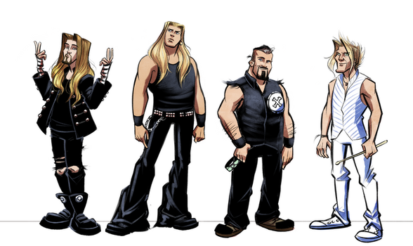 Apocalyptica Characters Lineup by LarissaRivero