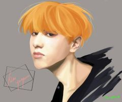 Yugyeom New Hairs  by monzaibu