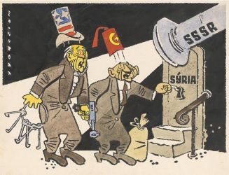CSSR old caricature on Syria by Rodegas