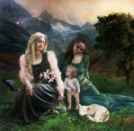 Anne, Marie and child (todays's version) by Madink2000