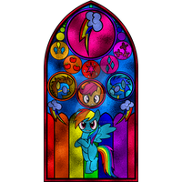 Rainbow Dash Stained Glass Window by Earthstar01