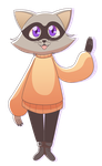 typical raccoon character of mine by wytchitoby