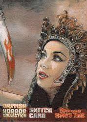 Blood from the Mummy's Tomb Sketch Card 7 by westleyjsmith
