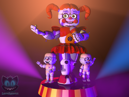(C4d) Welcome to the Circus Gallery (remake) by The-Smileyy