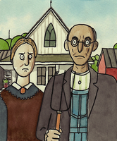 Shitty American Gothic by ShittyWatercolour