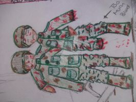 ww1 german soldiers all color by Notebook-Queen