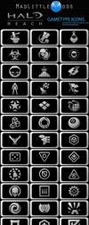 Halo Reach GameType Icons by MadLittleMods