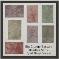 Big Grunge Texture Brushes Set 2 by AllThingsPrecious