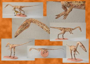 Walking With Papercraft - Coelophysis by DrWheelieMobile