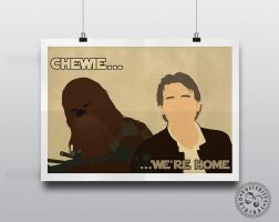 Star Wars - The Force Awakens 'Chewie...We're Home by Posteritty