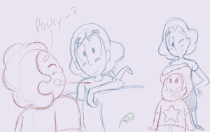 Connverse Pocky? (Also Couple of Random Doodles) by Perlen297