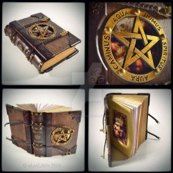 The Necronomicon - wooden leather journal, 9x7 in. by alexlibris999