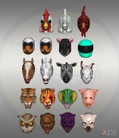 Hotline Miami - masks by Bringess