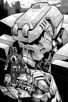 Mecha Bust 2 by goldbrandonium
