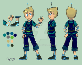 COMISH: Roboboy Ref Sheet by cappy-code