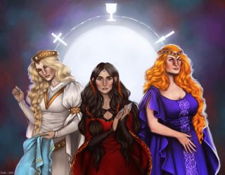 Arthurian Ladies by Enife