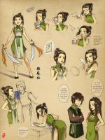 Azula as Tea shop Waitress by kelly1412