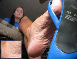 Tiny Bro climbs Unaware Sisters Foot - Sole POV by GT647