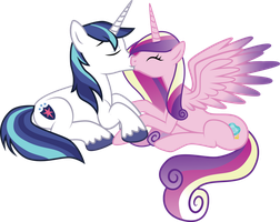 Meadowbreeze Comm: Cadence and Shining Armor by benybing