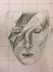 Bowie WIP by Jaghundlioness
