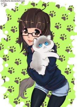 My cat and me by maielbertz