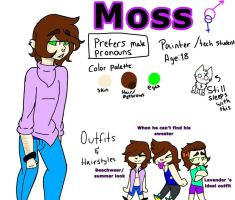 Moss' ref sheet by Illiterate-Swine