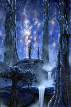 Melian and Thingol, med JPEG by KipRasmussen