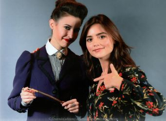 Missy and Clara (Meeting Jenna at Heroes ComicCon) by ArwendeLuhtiene
