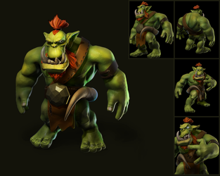 Orc Unfinished by Ainama