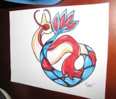 Milotic Prismacolor Marker Drawing by Eternalskyy