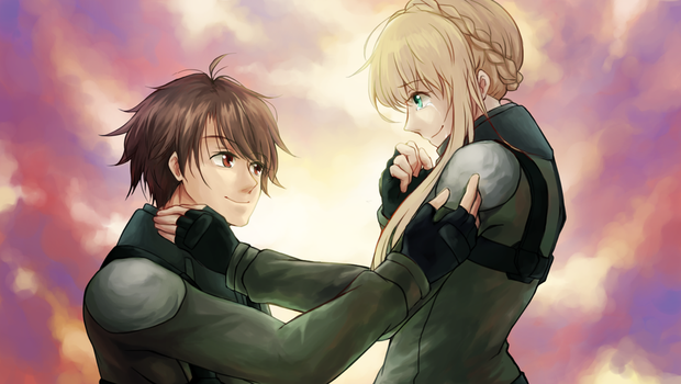 A/Z Inaho and Asseylum by tears-fall-down