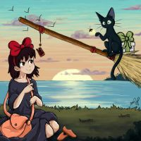 Kiki's delivery service by ColoredSketches
