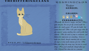 Petalpaw of RushingClan by Minnow-to-the-moon