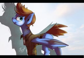 Stereo-blue Pegasus by Forgun