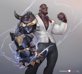 Doomfist Formal skin by silverjow