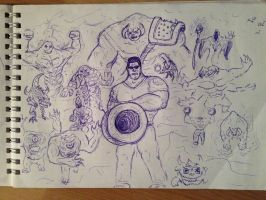 Old Serious Sam's art by ImmortalTartal