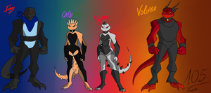 [TMNT OCs] Dark Dragon Lizards [BIOs][Backstory] by Foziz105