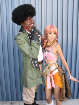 FFXIII: Sazh and Vanille by the-sushi-monster