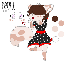 Machie the Pin-Up Kitty Girl by xXNeon-HeartXx